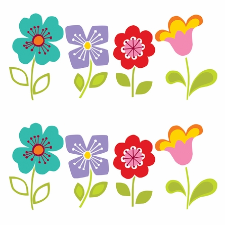 Petals Blox Wall Decals