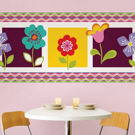 Petals Stripe Wall Decals