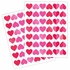 Petit Hearts Fabric Wall Decals