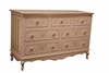 Petite Amie Long Dresser with Hand-Painted Details & Brilliant Knobs