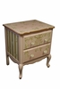Petite Amie Nightstand with Hand-Painted Details & Brilliant Knobs