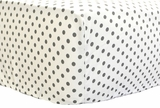 Petite Dots in Gray Crib Sheet $(+50.00)