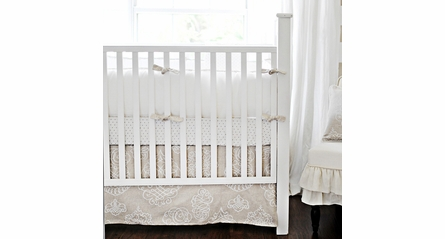 Petite Dots in Khaki Crib Sheet