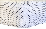 Petite Dots in Navy Crib Sheet $(+60.00)