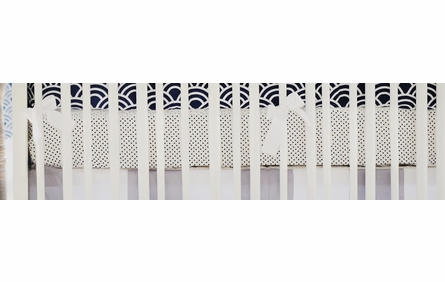 Petite Dots in Navy Crib Sheet