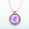 Petite Dots Light Pink Initial Pendant