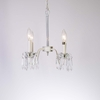 Petite Ivory Ice Four Arm Chandelier with Crystals
