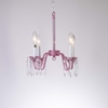 Petite Pink Princess Four Arm Chandelier with Crystals