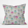 Petite Street Floral Throw Pillow