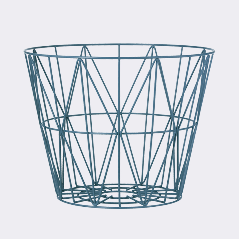 Petrol Large Wire Basket By Ferm LIVING