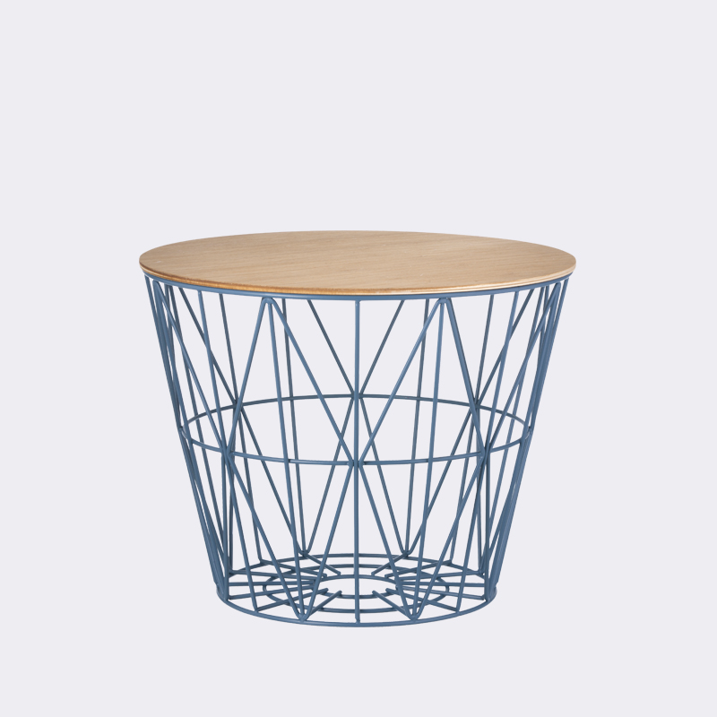 petrol small wire basket by ferm living. Black Bedroom Furniture Sets. Home Design Ideas