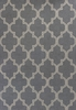 Pewter and Ivory Quatrefoil Rug