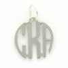 Pewter Petite Circle Monogram Pendant