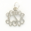 Pewter Petite Floating Monogram Pendant