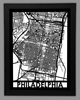 Philadelphia Framed City Map
