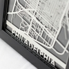 Philadelphia Stainless Steel Framed Map