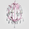 Phoebe Gloss Pink Clear Crystal Chandelier