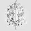 Phoebe Matte White Clear Crystal Chandelier