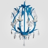 Phoebe Neon Blue Clear Crystal Chandelier