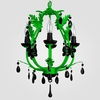 Phoebe Neon Green Black Crystal Chandelier