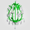 Phoebe Neon Green Clear Crystal Chandelier
