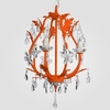 Phoebe Neon Orange Clear Crystal Chandelier