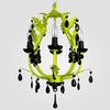Phoebe Neon Yellow Black Crystal Chandelier