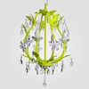 Phoebe Neon Yellow Clear Crystal Chandelier