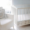 Picket Fence Bumperless Crib Sheet
