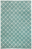 Picket Rug in Pale Blue Cream