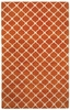 Picket Rug in Tangerine Cream