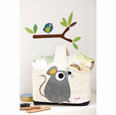 3 Sprouts Pig Canvas Storage Caddy