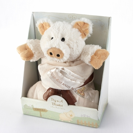 Pig in a Blanket Two-Piece Gift Set in Adorable Vintage-Inspired Gift Box
