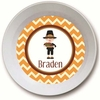 Pilgrim Boy Personalized Melamine Bowl