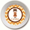 Pilgrim Girl Personalized Melamine Bowl