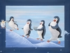 Pinguination Canvas Reproduction