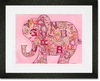 Pink Alphabet Elephant Framed Art Print
