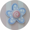 Pink and Blue Daisy Drawer Knob