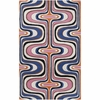 Pink and Blue Square Swirl Dreamscape Rug