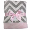 On Sale Pink and Gray Chevron Baby Blanket