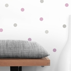 Pink and Gray Dot Wall Decals