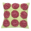 Pink And Green 9 Dahlias Pillow