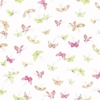 Pink and Green Butterflies Wallpaper