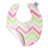 Pink and Green Chevron Bib