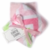 Pink and Green Chevron Burp Cloth