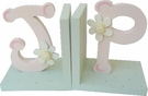 Pink and Green Letter Bookends