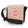 Pink and Green Quatrefoil Monogram Sling Bag