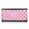Pink and Green Quatrefoil Monogram Wallet