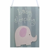 Pink and Grey Elephant Doorhanger