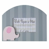 Pink and Grey Elephant Frame